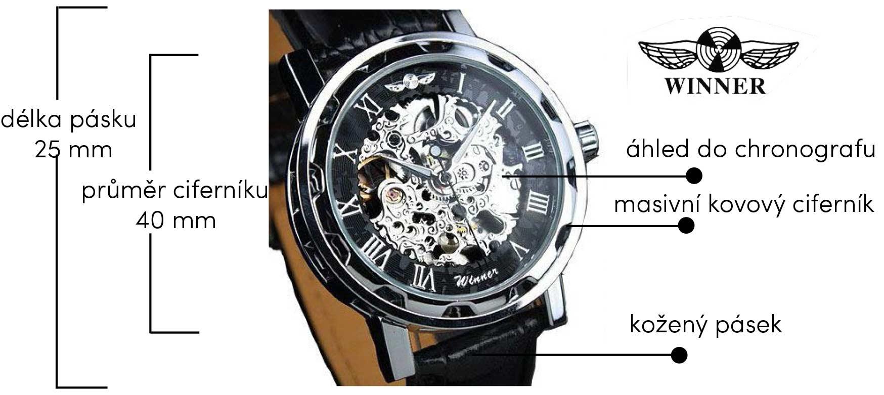 43c3c70d07b Pánské hodinky Winner Skeleton